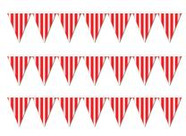 Beistle striped pennant banner, Red/White