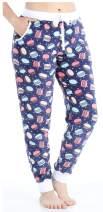 Frankie & Johnny Women's Plush Fleece Lounge Pajama Pants with Pockets
