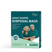 Sirona Premium Adult Diaper Disposable Bags - 10 Bags | Odor Sealing for Diapers, Food Waste, Pet Waste, Sanitary Product Disposal | Durable and Unscented