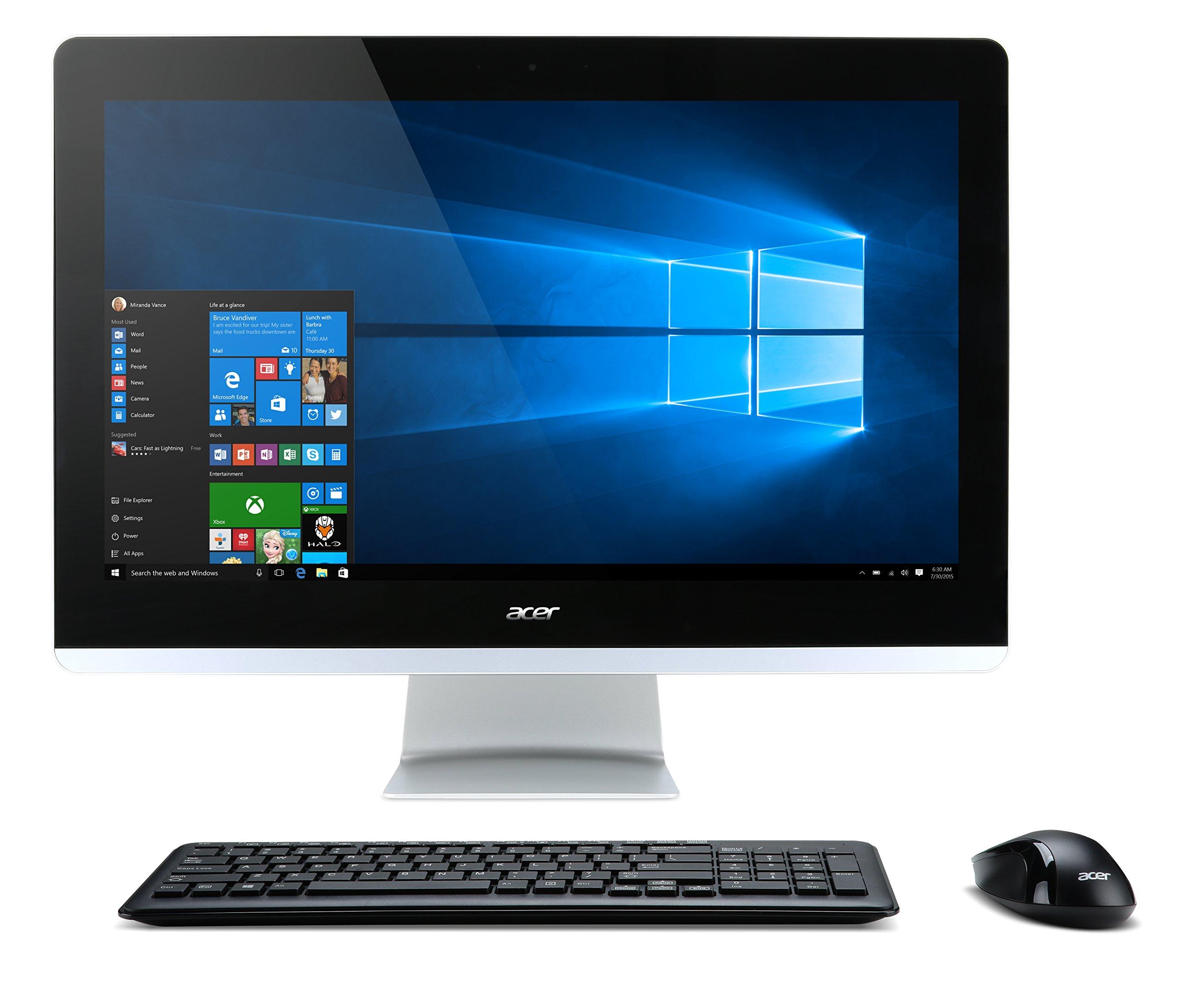 "Acer Aspire AIO Desktop, 23.8"" Full HD, Core i5-6400T, NVIDIA 940M 2GB Discrete Graphics Card, 8GB DDR4, 1TB HDD, Win 10, AZ3-715-UR61"