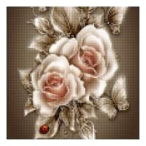 "5D Diamond Painting Kits for Adults by BANLANA, DIY Cross Stitch Crystal Rhinestone Embroidery Pictures Art Kit with Premium Tools, 12"" by 12"" Arts Craft for Home Wall Decor (White Roses)"