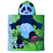 Hooded Bath Beach Towel Set– Panda Super Soft for Baby,Boys,Girls,Toddlers. Comes with a Story Book, Great for Pool Swimming Coverup, Ponchos, Robes or Capes, 1-7 Years kid