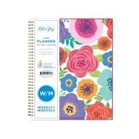 """Blue Sky 2019-2020 Academic Year Weekly & Monthly Planner, Flexible Cover, Twin-Wire Binding, 8.5"""" x 11"""", Mahalo"""