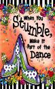 "Blue Mountain Arts Little Keepsake Book""When You Stumble, Make It Part of the Dance"" 4 x 3 in. Encouraging Pocket-Sized Gift Book Reminds Woman to Not Let Their Mistakes Define Them, by Suzy Toronto"