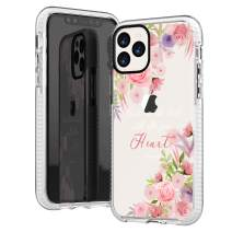 iPhone 11 Pro Max Case Girls Women,Flowers Floral Spring Elegant Trendy Rose Daisy Blooms Christian Bible Verses Inspirational Proverbs 3:5 Soft Protective Clear Case Compatible for iPhone 11 Pro Max