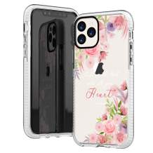 iPhone 11 Pro Case Girls Women,Flowers Floral Spring Elegant Trendy Rose Daisy Blooms Christian Bible Verses Inspirational Proverbs 3:5 Soft Protective Clear Design Case Compatible for iPhone 11 Pro