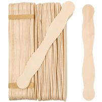 "Wooden 8"" Fan Handles, Wedding Programs, or Paint Mixing, Pack 300, Jumbo Craft Popsicle Sticks for Auction Bid Paddles, Wooden Wavy Flat Stems for any DIY Crafting Supplies Kit, by Woodpeckers"