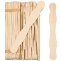 "Wooden 8"" Fan Handles, Wedding Programs, or Paint Mixing, Pack 200, Jumbo Craft Popsicle Sticks for Auction Bid Paddles, Wooden Wavy Flat Stems for any DIY Crafting Supplies Kit, by Woodpeckers"