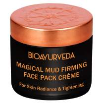 BIOAYURVEDA Magical Mud Firming Face Pack Cream, Organic - Fuller Earth, Vitamin C| Face Mask for Skin Tightening and Firming | Moisturizer for Face Lifting, Acne, Wrinkles, Patches & Spots(2 oz)