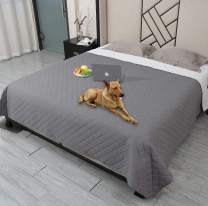 """Waterproof Dog Bed Cover Washable Pet Blanket,ReusableDog Cover for Couch with Non-Slip Back,Waterproof Comforter Bed Cover Furniture Protector,Soft Puppy Blankets for Dog,Cat,Kids (68""""x82"""", Grey)"""