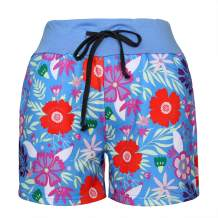 MAKARTHY Women's Cotton Pajama Shorts Printed Drawstring Sleepwear Shorts