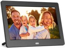 Digital Picture Frame 7 Inch with 1280x800 High Resolution with Background Music, Motion Sensor, USB, and SD Card Slots, Support Slideshow, Wall-Mountable