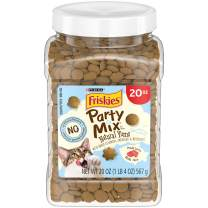 Purina Friskies Party Mix Natural Yums All Natural Adult Cat Treats 20 oz. & 30 oz. Canisters