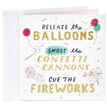 Hallmark Studio Ink Birthday Card (Confetti Cannons)