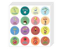 Creanoso Hygiene Reminder for Kids Stickers (5-Sheet) - Perfect for Cleanliness Reminder for Children