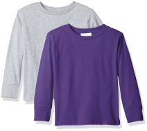 Clementine Unisex Everyday Long Sleeve Toddler T-Shirts Crew 2-Pack