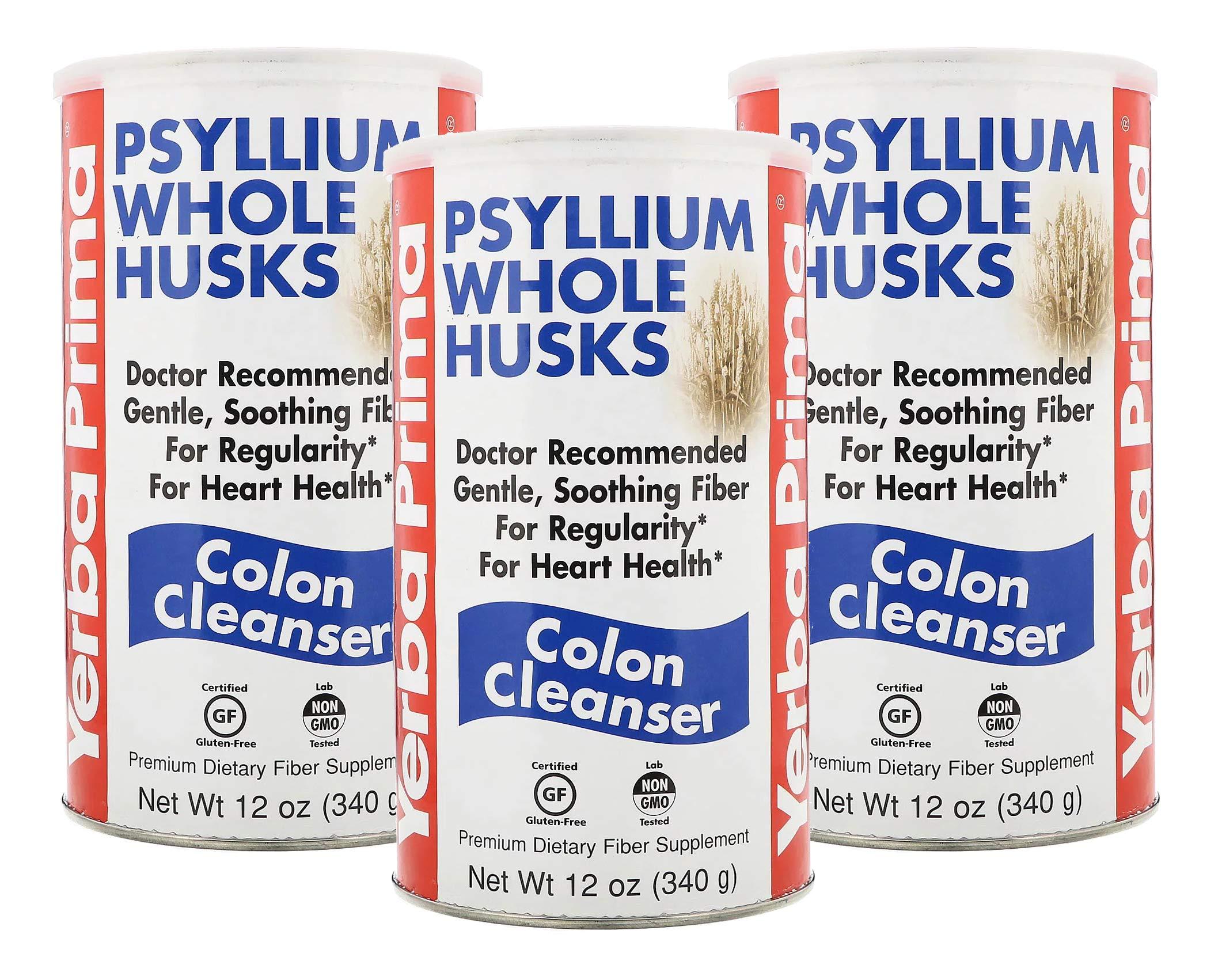 Yerba Prima Psyllium Husk Colon Cleanser 12Ounce (Pack of 3)