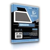Sandpaper   25 Sheets   Grit 600   9x11   Waterproof Silicon Carbide Abrasive