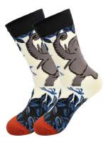 Real Sic Casual Designer Socks for Men and Women - Animal Pet Series - Breathable and Lightwear Cotton (Elephant)