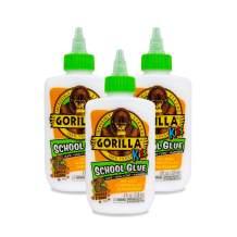 Gorilla Kids School Glue, 4  ounce. Bottle, White, (Pack of 3)