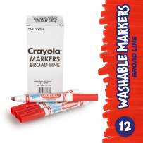 Crayola 12 Count Washable Bulk Markers, Red