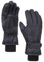 ANDORRA Women's Cotton Waterproof Touchscreen Ski Gloves, M, Black