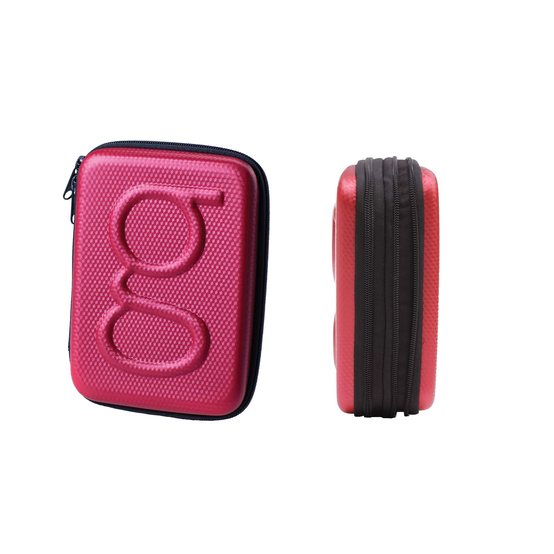 Glucology™ Diabetic Travel Case - Organizer for Blood Sugar Test Strips, Medication, Glucose Meter, Pills, Tablets, Pens, Insulin Syringes, Needles, Lancets - Hardshell Pack - Expandable, Red