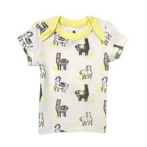Finn + Emma Organic Cotton Baby T-Shirt Top, Llamas - 0-3 Months
