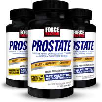 Force Factor Prostate Saw Palmetto and Beta Sitosterol Supplement for Men, Prostate Health Support, Size Support, Urinary Relief, Bladder Control, Reduce Nighttime Urination, 180 Softgels (3-Pack)
