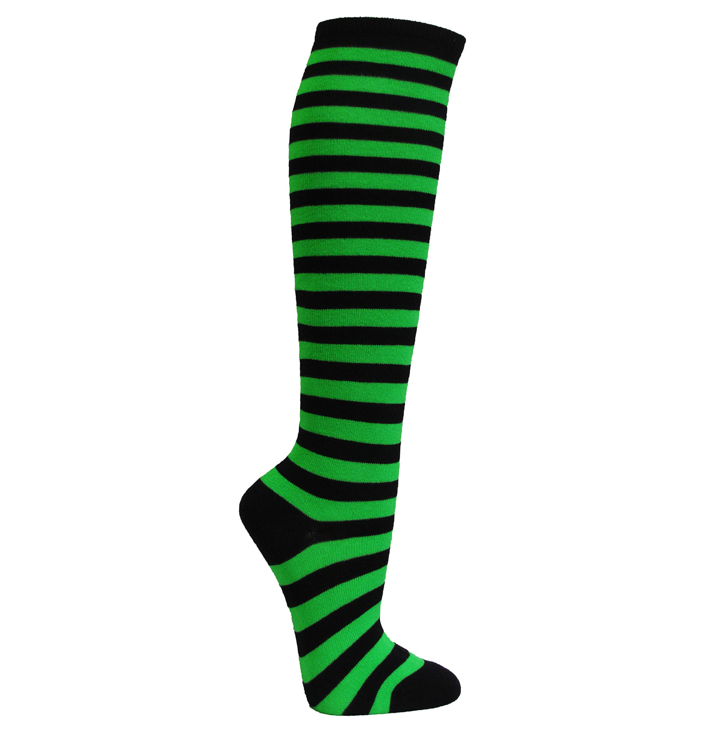 Couver Striped Knee High Fashion/Casual Tube Cotton Socks Great for Halloween Costume(Assorted Colors)(1 Pair)