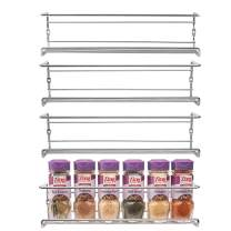 Spice Rack Wall Mount, Pantry Cabinet Door Organizer by Mindspace - Set of 4 Hanging Spice & Seasoning Racks Kitchen Storage Organizer  The Wire Collection, Chrome