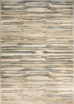 ADGO Hudson Collection Modern Geometric Striped Medallion Brick Triangle Soft Pile Contemporary Carpet Thick Plush Stain Fade Resistant Easy Clean Bedroom Living Dining Room (3' x 5', 5671A - Beige) …