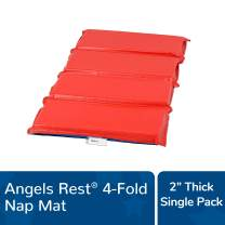 "Angeles Rest 2"" Nap Mat, 4 Section Folding Sleeping Mats for Kids/Toddlers Daycare, Bacteria-Resistant Waterproof Seams, Homeschool/Classroom Rest Mat"