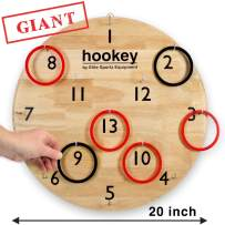 """Elite Hookey Ring Toss Games - Gifts for Men, Games for Boys or Girls - Our Beautifully Finished 20"""" Giant Hookey is an Easy Set Up, Simply Hang and Play. Safe Kids Gift…"""