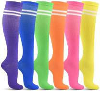 Women's Compression Socks (6 Pack) – Graduated Support - Ladies Running, Medical, Diabetic, Travel, Pregnancy, Nursing Socks