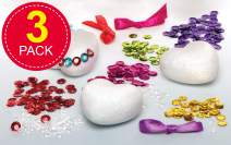 Baker Ross Sequin Heart Kits (Pack of 3) Perfect for Kids to Make and Display for Mother's Day / Valentine's Day