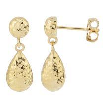 Kooljewelry 14k Gold Teardrop Earrings (yellow, white, or rose)