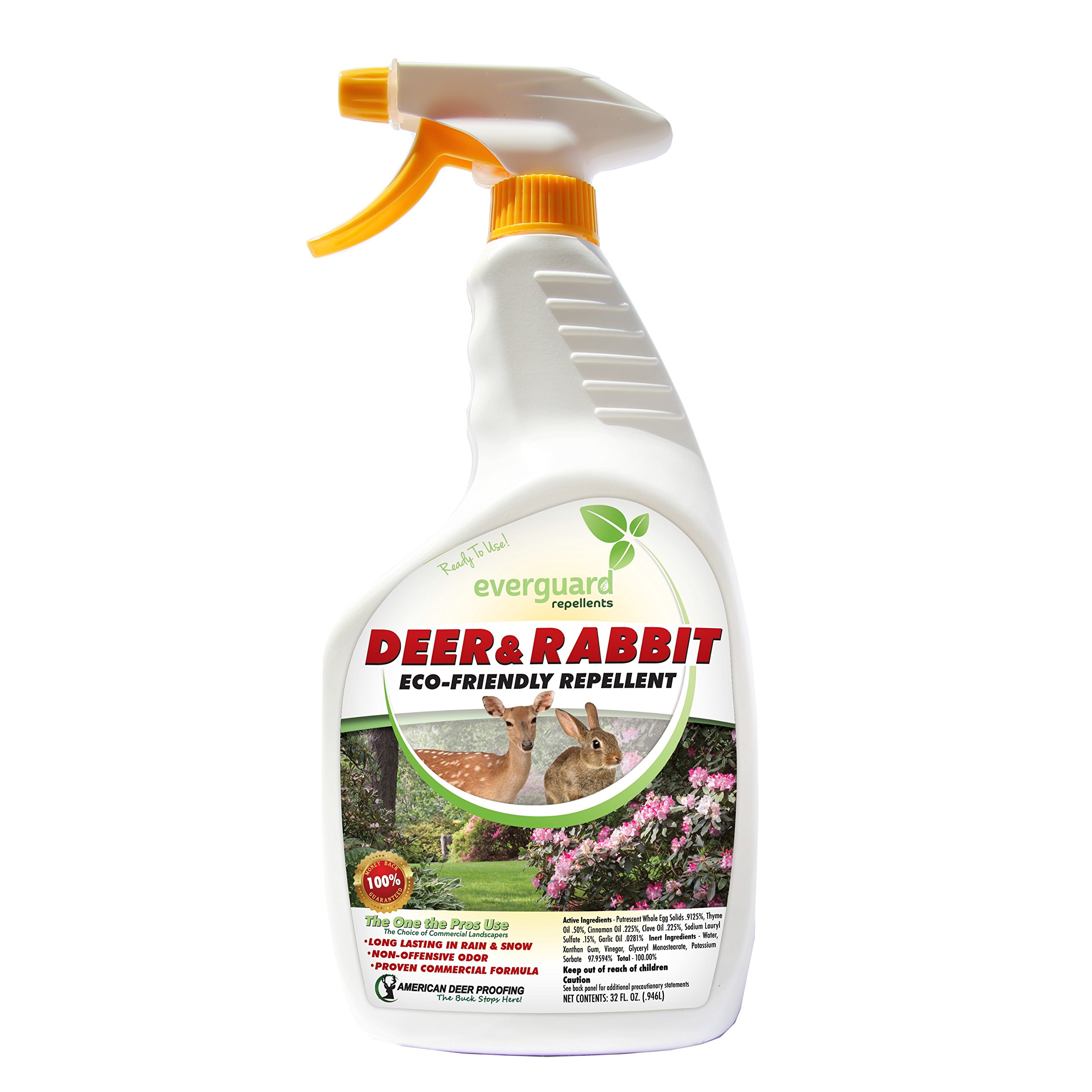 Everguard ADPR032 Ready to Spray Deer and Rabbit Repellent ADPR032 Everguard 32oz RTU Deer & Rabbit Repellent