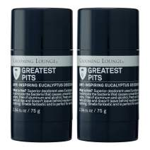 Grooming Lounge Greatest Pits Deodorant, Alcohol-Free, Aluminum-Free, Men and Women, 2-Pack