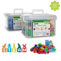Brackitz Structures Educational STEM Building Toy for Kids PreK-6 | 320 Pc Set