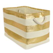 """DII, Woven Paper Storage Bin, Collapsible, 17x12x12"""", Rugby Gold, Large"""