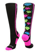 MadSportsStuff Crazy Socks with Diamonds Over The Calf (Multiple Colors)