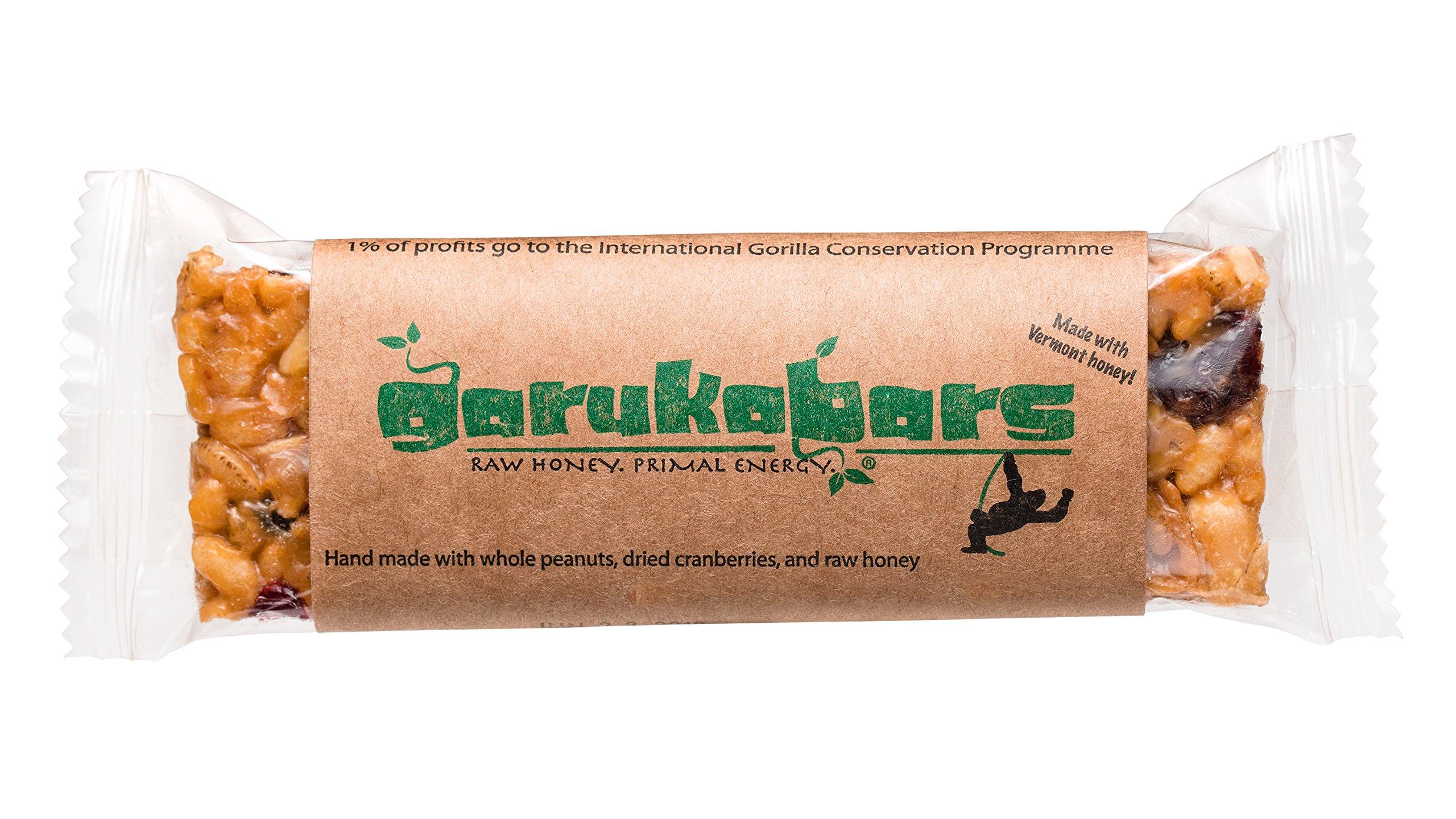 Garuka Bars Energy Bar - Handmade with Raw Honey - 100% Recyclable Packaging - 20 Pack