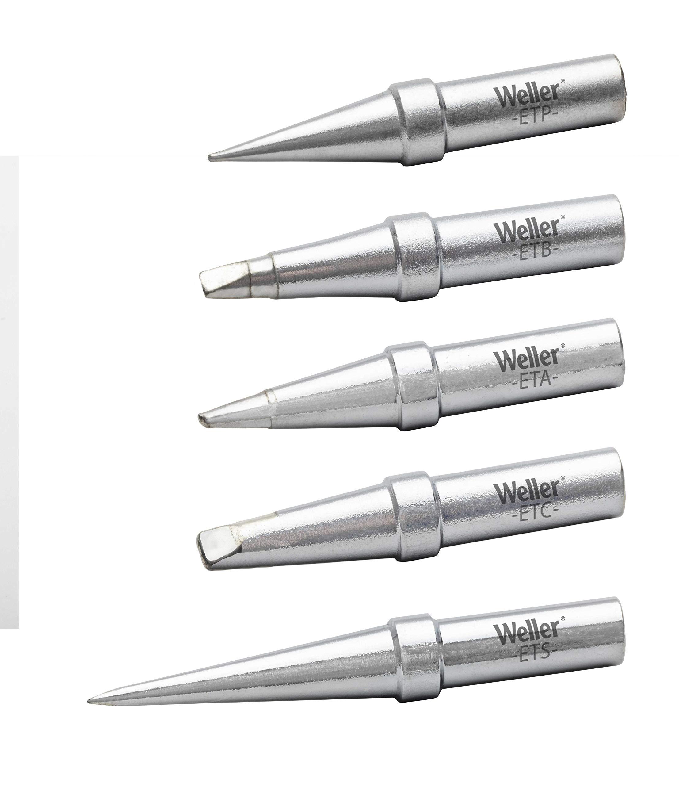Genuine Weller WE1010 Soldering Tip Set - ETA, ETB, ETC, ETP, TETS, 5 PCS