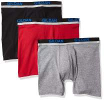 Gildan Men's Cotton Spandex Athletic Boxer Briefs, 3-Pack