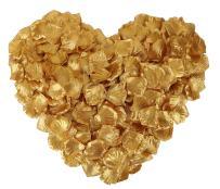 YoungLove 1000 Pcs Non-Woven Artificial Rose Petals Decorated Wedding Flower Petals,Gold
