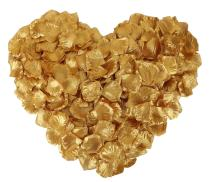YoungLove 1000 Pcs Non-Woven Artificial Rose Petals Decorated Wedding Flower Petals,Gold