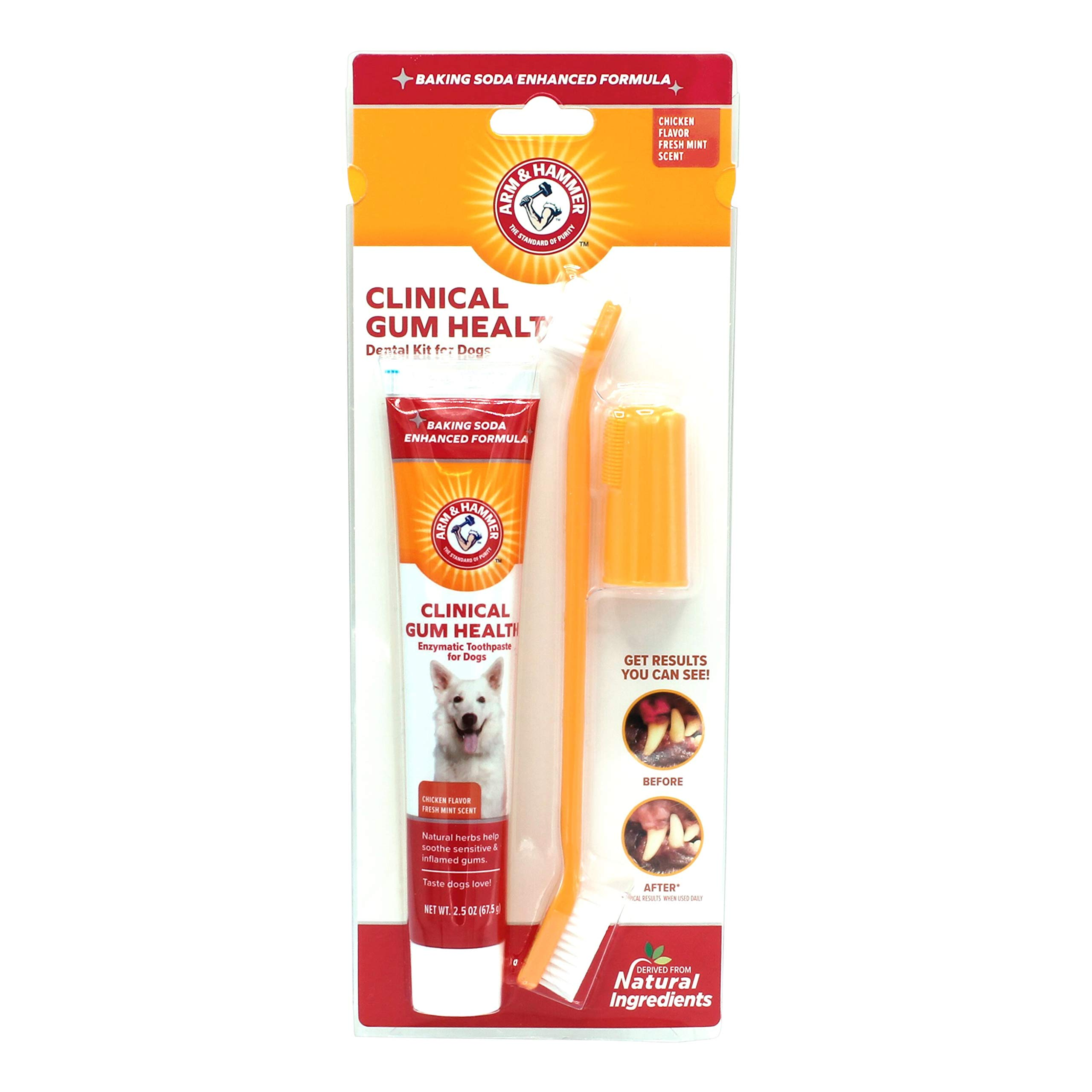 Arm & Hammer For Pets Dog Toothpaste | Enzymatic Dog Toothpaste for All Adult Dogs, Baking Soda Enhanced Formula For Fresh Dog Breath | Chicken Flavor and Fresh Mint Scent