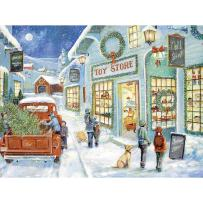 Bits and Pieces - 300 Piece Jigsaw Puzzle for Adults - The Town Toy Store - 300 pc Christmas Tree Holiday Winter Jigsaw by Artist Ruane Manning