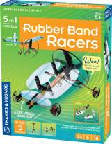Thames & Kosmos   Rubber Band Racers Kit   Science Kit   Includes Color Education Manual   Science Toy for Kids 8+